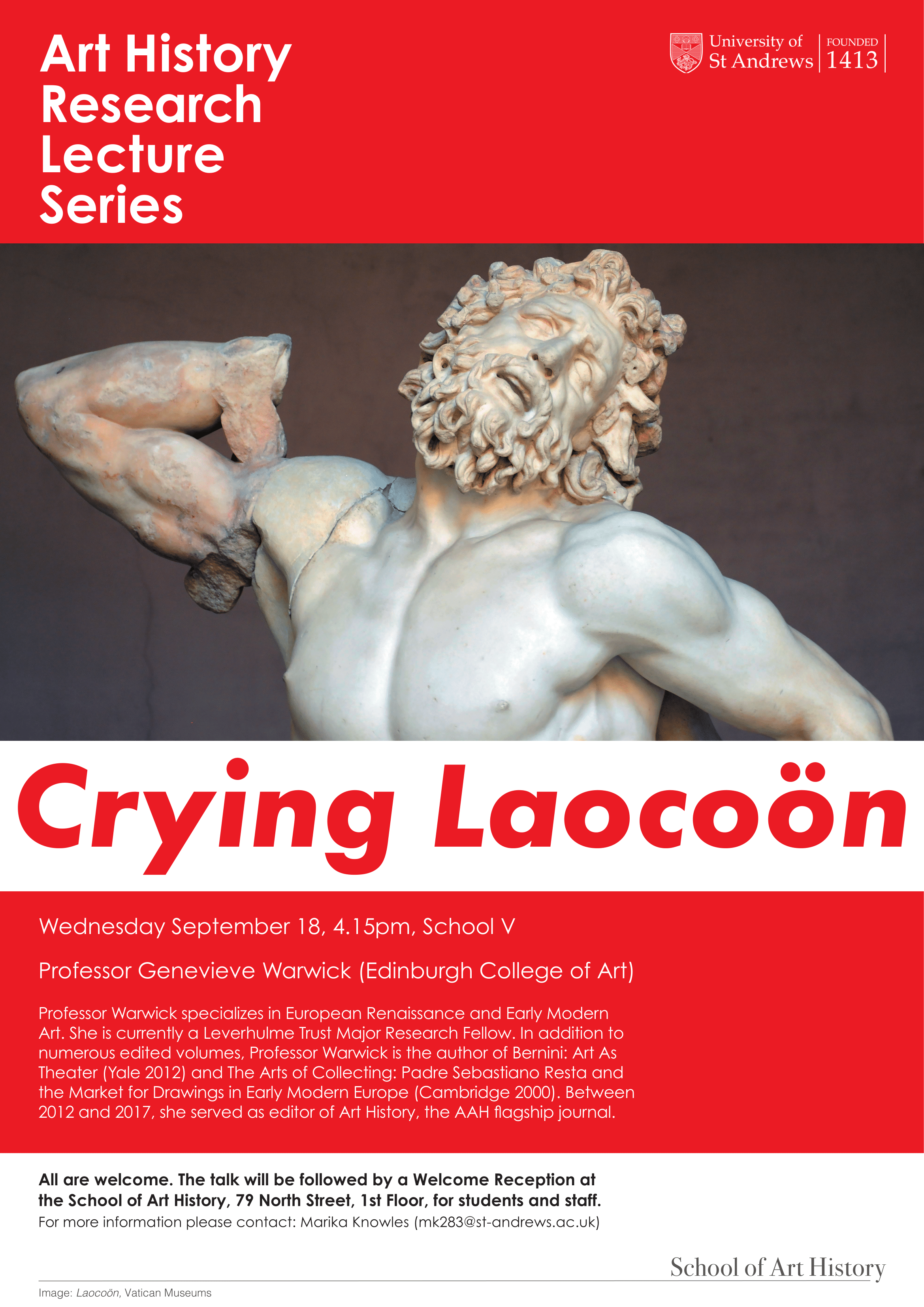 Crying Laocoon talk poster